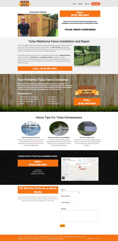 Fence Company Website Design & Search Engine Optimization - Tulsa ...